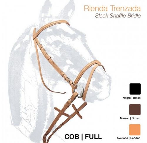 SPECIAL OFFER Leather single bridle with laced leather reins